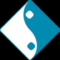 لوگو آبی سفید